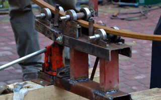 Простой трубогиб своими руками: ручной из профильной трубы, трубогибочный станок, чертежи и размеры для изготовления самодельного устройства, схема роликов, гиб