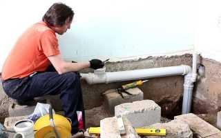 Замена канализационных труб: этапы проведения работ, необходимые материалы